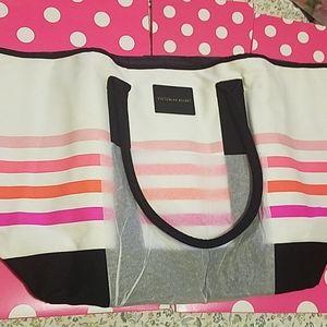 NEW 😍VS Victorias secret striped tote bag